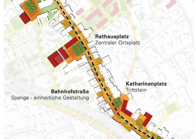 Pläne für die Bahnhofstraße